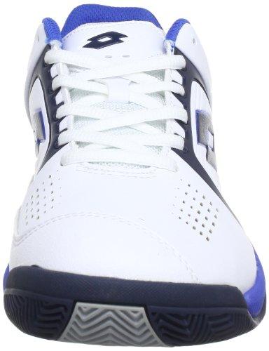 Lotto Sport T-TOUR 600 Q3788 - Zapatillas de tenis de caucho para hombre Blanco (Weiß (WHITE/BLUE))