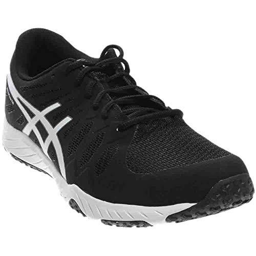 ASICS Men's Gel-Nitrofuze TR Cross-Trainer Shoe, Black White, 8.5 M -