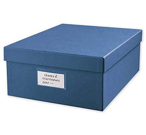 Check Storage Box w/12 Dividers, 12'' x W 9-7/8'' x H 4-5/8'', Blue