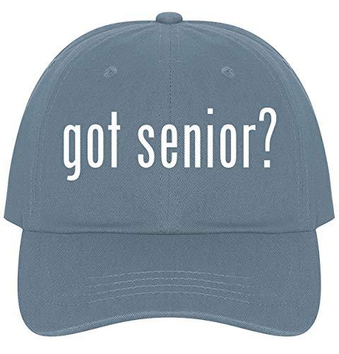 The Town Butler got Senior? - A Nice Comfortable Adjustable Dad Hat Cap, Light Blue