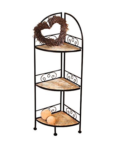 (PierSurplus 44 in Metal Foldable Mosaic Shelf - Decorative Corner Rack Mosaic Star Product SKU: HD223575)