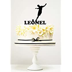 KISKISTONITE Cake Toppers Soccer Player Leonel Custom Birthday Anniversary Engagement Wedding Favors Party Cake Decorating Supplies