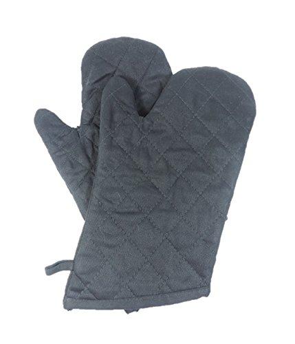 Viva-Haushaltswaren - 1 Paar grosse Grillhandschuhe / Ofenhandschuhe für Männer 32 cm / hitzebeständig bis 200°