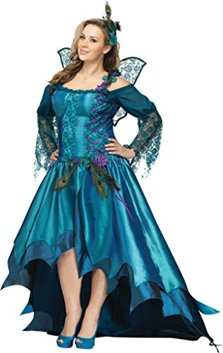 Funworld Womens Animals Peacock Adults Theme Party Fancy Dress Halloween Costume, Plus (18-20)