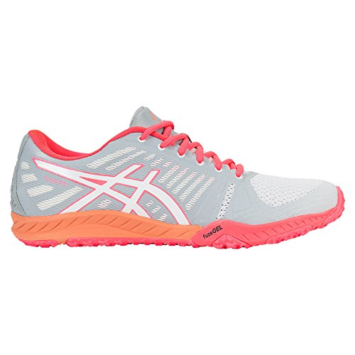 Mid Cross Training Shoe (ASICS Women's Fuzex TR Cross-Trainer Shoe, White/Diva Pink/Mid Grey, 7 M US)