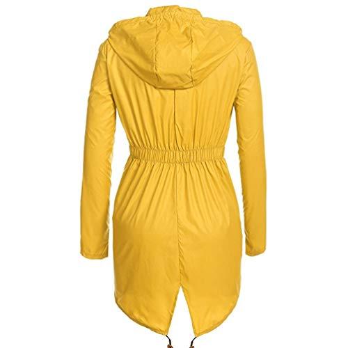Con Giacche Vento All'aperto Cappuccio a Giallo Protezione Donna Impermeabile Giacca Manica Solare Dooxii Lunga cPv817q1
