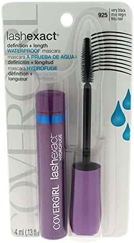COVERGIRL Lashexact Mascara Waterproof Very Black 925, .13 oz