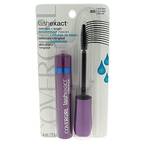 COVERGIRL Lashexact Mascara Waterproof Very Black 925, 0.13 oz