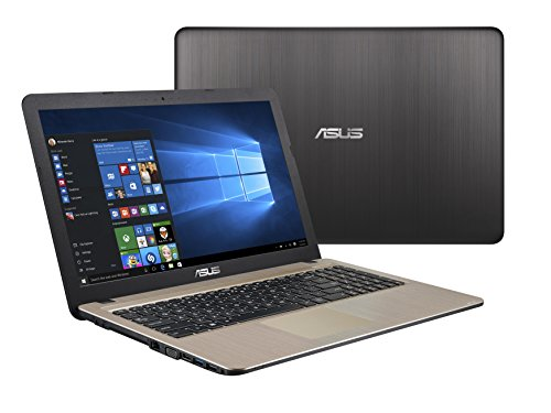 Asus F540SA-XX073T 39,60 cm (15,6 Zoll HD Glare Type) Notebook (Intel Celeron N3050, 4GB RAM, 500GB Festplatte, Intel HD-Grafik, DVD, Win 10 Home) braun
