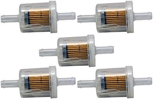 Briggs & Stratton 4129 5-Pack Of 691035 Fuel Filter 40 Micron For Selected Engin