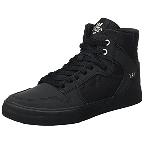 5737fb1bd98c new Supra Vaider Mens Black Nubuck High Top Lace Up Sneakers Shoes ...