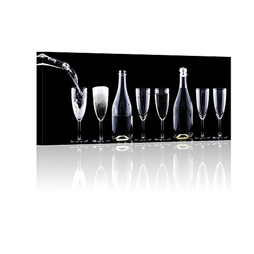 Wine Glasses Wall Art Painting The Picture Print On Canvas B