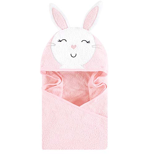 - Hudson Baby Unisex Baby Animal Face Hooded Towel, Pink Bunny 1-Pack, One Size
