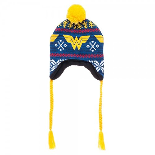 DC Comics Wonder Woman Fairisle Laplander (One size, Blue/Yellow)