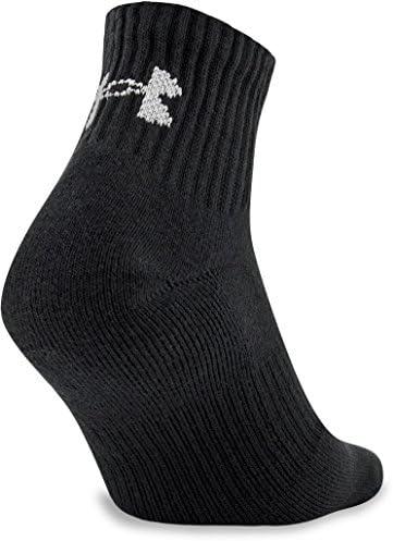 Under Armour Adult Cotton Quarter Socks, 6-Pairs