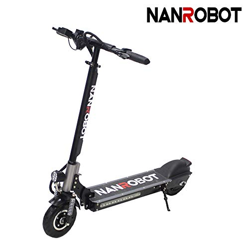 NANROBOT X4 Commuting Electric Scooter Foldable, 8' Explosion-Proof Solid Tire, 350W Motor, Max Speed 20MPH 25 Mile Range of Riding, Max Weight 260lbs (Mini Electric Scooter)
