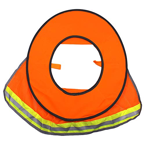 2 Pack Hard Hat Sun Neck Shield Full Brim Sunshade for Hard Hats- High Visibility, Reflective, Full Brim Mesh Sun Shade Protector (Hard Hat Not Included) (Orange) by Erlvery DaMain (Image #3)