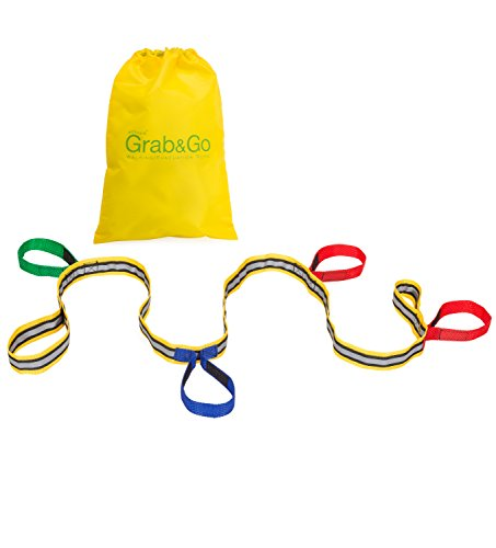 Childrens Walking Rope (4 Child) - Premium Quality, Teacher Designed, Extra Safety Feature on Handles. Hi Viz Detail for Best Visibility.