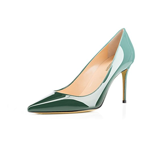 Modemoven Women's Emerald Pointed Toe Pumps Slip-on Office Business High Heels Sexy Stiletto Shoes 10 M US by Modemoven