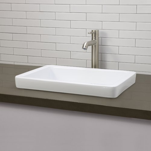 DECOLAV 1453 CWH Classically Redefined Semi Recessed Lavatory Sink, White    Vanity Sinks   Amazon.com