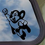 Mighty Mouse Black Decal Car Truck Bumper Window Sticker
