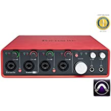 Focusrite Scarlett 18i8 Second Generation (2nd Gen) 18 In/8 Out USB 2.0 Audio Interface with 1 Year Free Extended Warranty