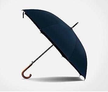 RAIDNY Paraguas Paraguas Mango De Madera A Prueba De Viento Grandes Hombres Paraguas Lluvia Negocio Azul