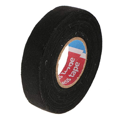 Homyl Black Wire Loom Harness Tape, High Temperature Resistant Automotive Wiring Harness Cloth Tape, 19mm x 15m: