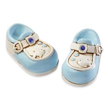 Babyschuhe Blau Baby Geburt Taufe Tortendekoration Tortenfigur Tischdekoration