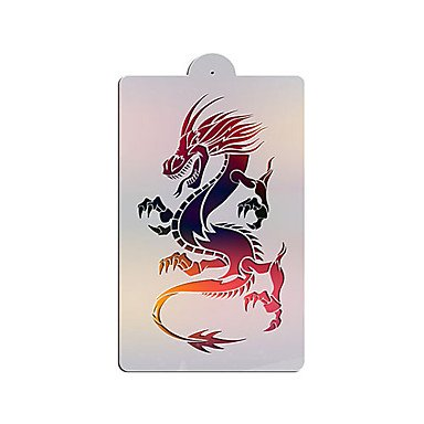 FMY One Rising Chinese Dragon Cake Stencil Designs,Wall Paint Stencils Template Mold,Bakery Supplies ST-3120
