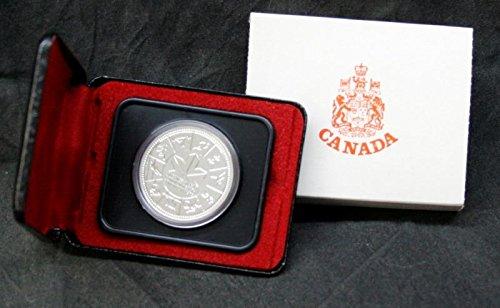 1978 CA Canada XI Commonwealth Games Silver Dollar in Original Box $1 Specimen Royal Canadian Mint