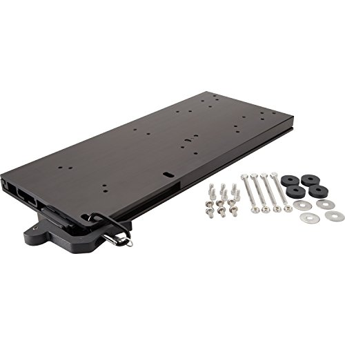 - Motorguide 8M0095972 Universal Aluminum Quick-Release Bracket Kit for Electric Trolling Motors, Black Finish