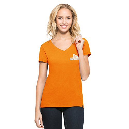 '47 NCAA Tennessee Volunteers Women's Clutch MVP V-Neck Tee, Vols Orange, X-Large