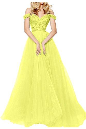 Topkleider trapecio amarillo mujer para Vestido xPPrTwA8pq