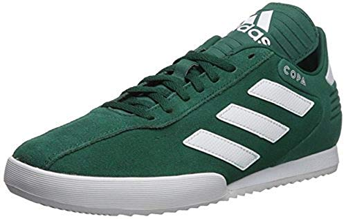 adidas Men's Copa Super, Green/White/Scarlet, 9 M US - Leather Green Stripe Sneakers