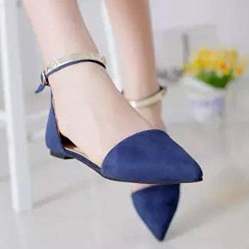 Solide Flat De Bleu Flip Hunpta Femmes Chaussures Slip Slipper Dames Simples Pantoufles Flock On Faux Flop Slider 8FPnqUa