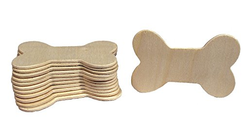 Ornament Dog Biscuit (Creative Hobbies 3.5 Inch Unfinished Wood Dog Bone Cutouts, Pack of 12, Ready to Paint or Decorate)
