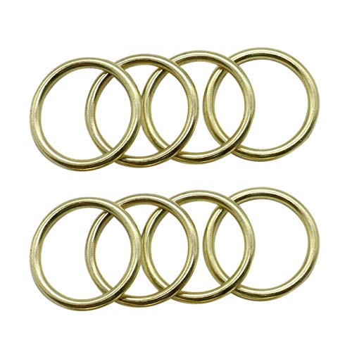 WSSROGY 20 Pack 1 inch Gold Round Brass Rings Metal Hoops Metal Rings for Dream Catcher Crafts Accessories (25 Round Hoop Mm)