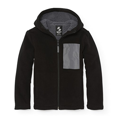 (The Children's Place Big Boys' Jacket, Black 84722, L (10/12))