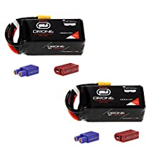 Venom 75C 4S 1300mAh 14.8V Drone Racing LiPo Battery with Universal 2.0 Plug (XT60/Deans/EC3) x2 packs