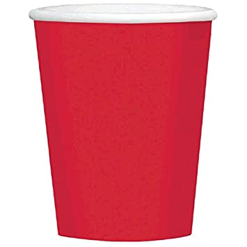 Economy Apple Red Paper Cups Party Supply | Pack of 8 9 oz