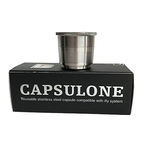 capsulone recargable cápsula de acero inoxidable compatible con Máquina de café illy eléctrica uso 10 años: Amazon.es: Hogar