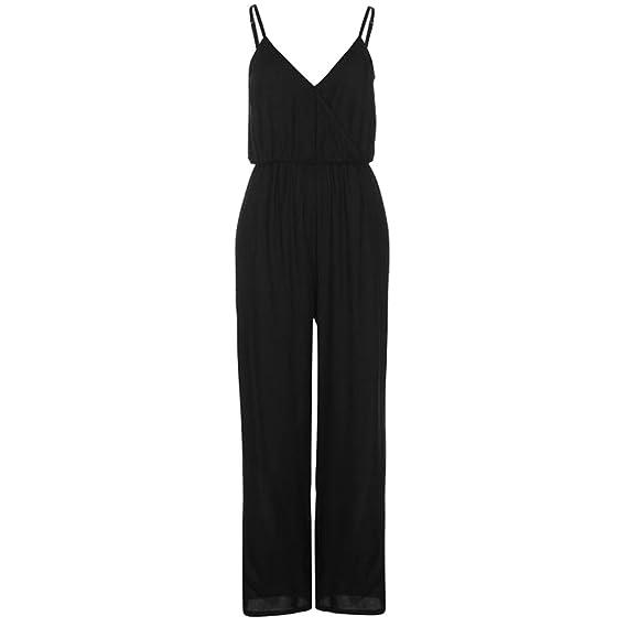8380f4a7cbf0 Golddigga Womens Wide Leg Jumpsuit Elasticated Waistband  Amazon.co.uk   Clothing