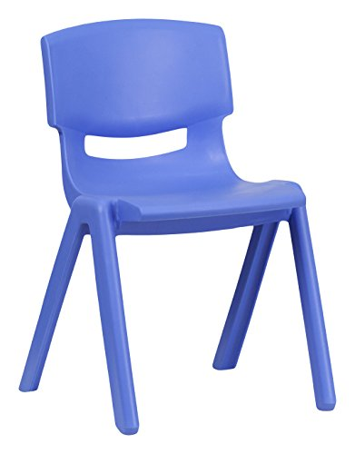 Flash Furniture 10 Pk. Blue Plastic Stackable School Chair with 13.25'' Seat Height by Flash Furniture