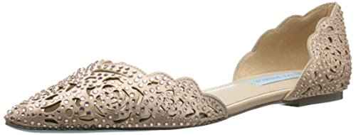Betsey Evening Johnson (Blue by Betsey Johnson Women's SB-Lucy, Blush Satin, 10 M US)