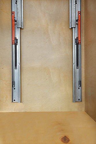 Double Soft-Close w/ Tandem Heavy Duty Slides Waste Containers - 4WCSC-1835DM-2 - 35 QT - Natural by Rev-A-Shelf (Image #1)