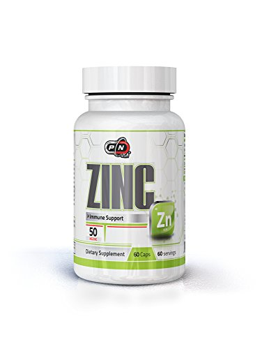 Pure Nutrition USA Zinc 50mg Picolinate Enhance Detoxification Immune System and Testosterone Production Support Supplement 60 Caps