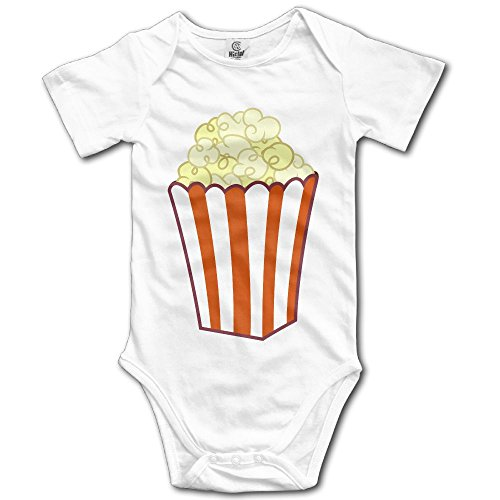 MB32 Unisex Baby's Climbing Clothes Set Popcorn Art Bodysuits Romper Short Sleeved Light Onesies For 0-24 Months for $<!--$3.67-->