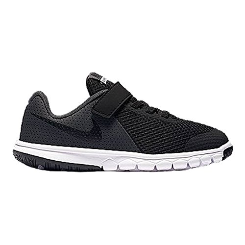 Nike Boys Flex Experience 5 PSV Running Shoes (3 LITTLE KID M, BLACK/BLACK-ANTHRACITE-WHITE)
