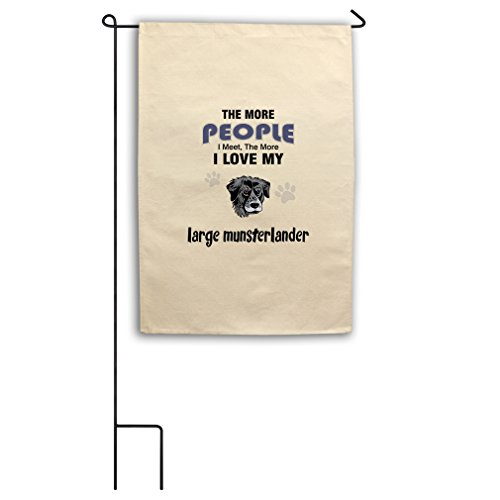 "Style in Print Canvas Yard Flag 18""X27"" More People Meet Lar"